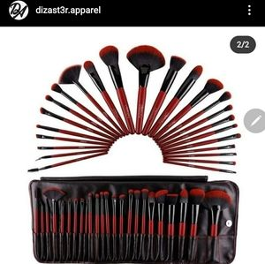 Ruby red beauty creations 24 pc brush set Original
